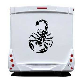 Scorpion Camping Car Decal 2