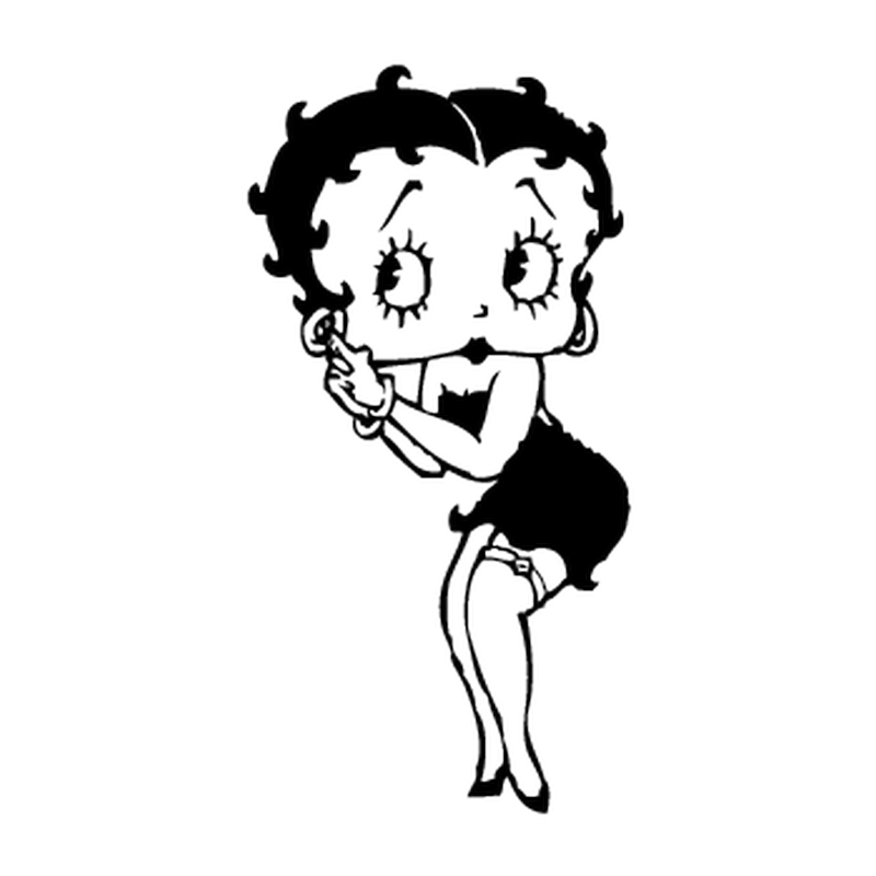 Betty Boop Camping Car Decal 1