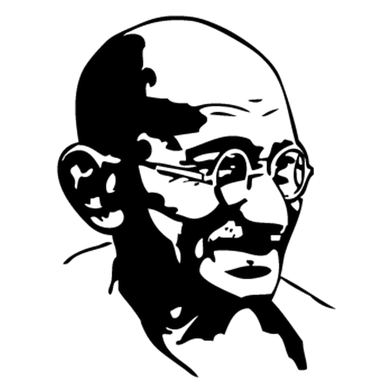 Gandhi Camping Car Decal