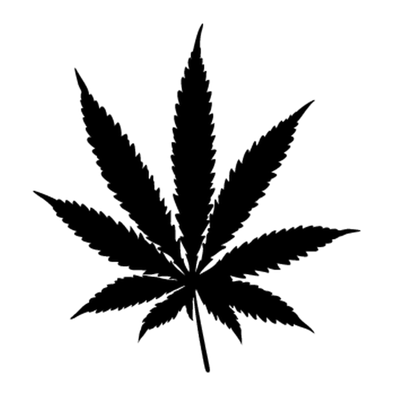 Pot Leaf Cannabis Camping Car Decal