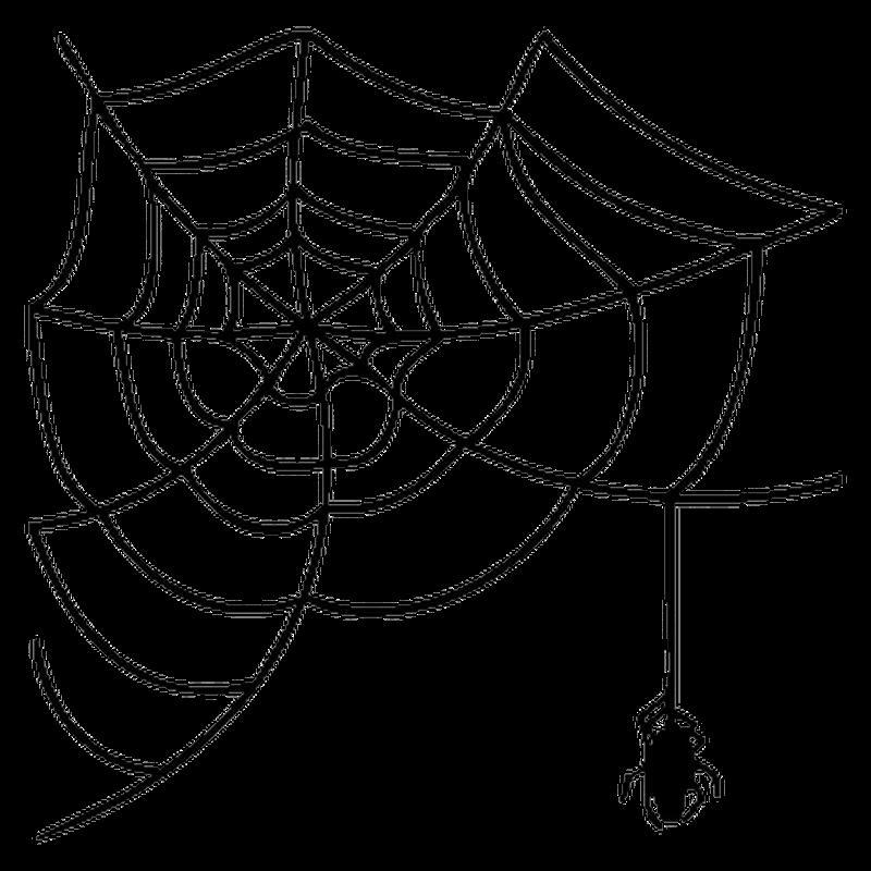 Sticker Camping Car Toile d'Araignée
