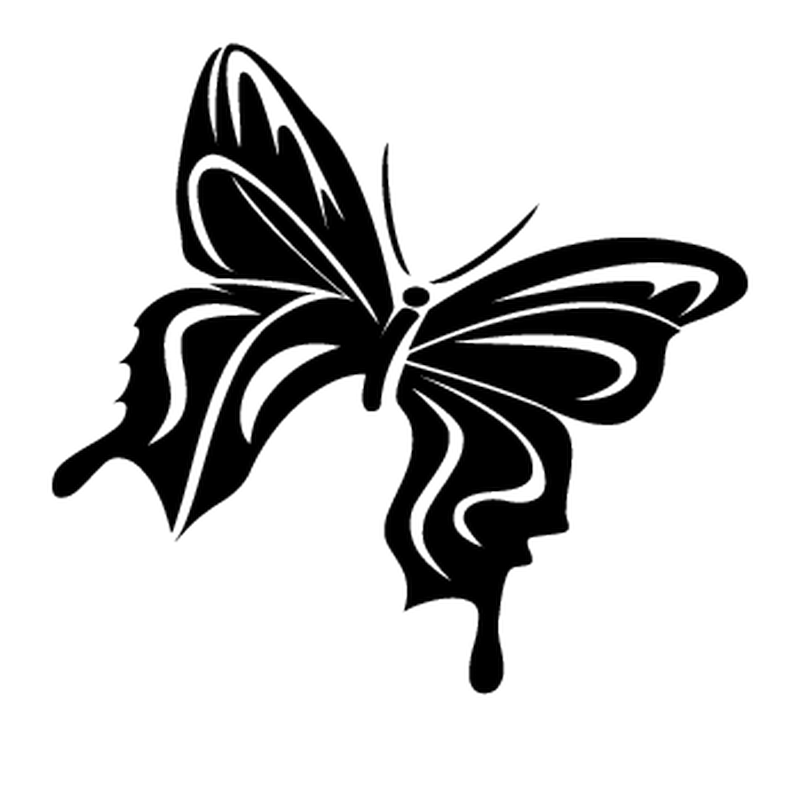 Butterfly Camping Car Decal 62
