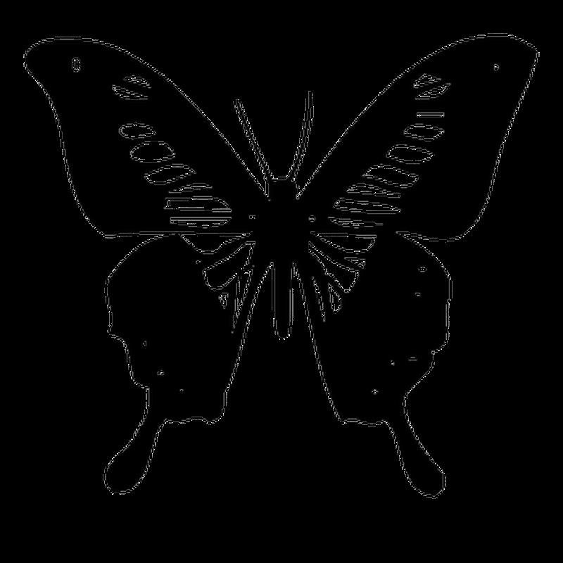 Sticker Wohnwagen/Wohnmobil Schmetterling 63