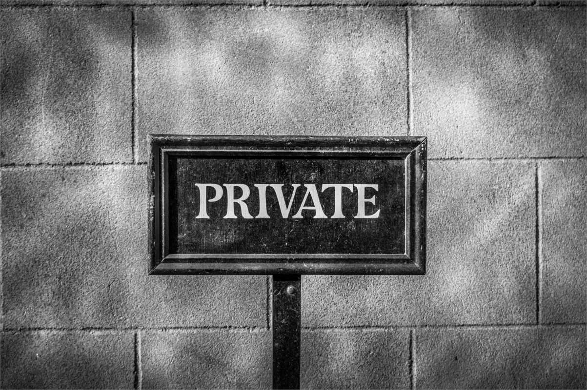 Private sign deco decal