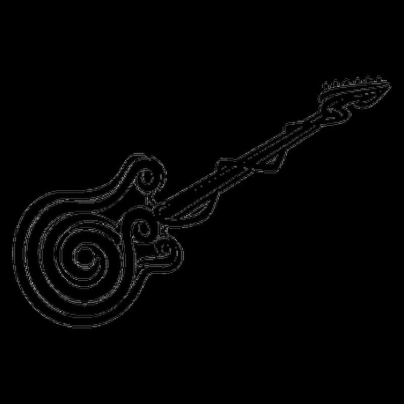 Sticker Vw Golf Guitare Silhouette Tribal