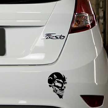 Sticker Ford Fiesta Tête de Mort Diable 7