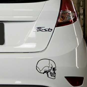 Sticker Ford Fiesta Tête de Mort 26