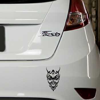 Sticker Ford Fiesta Tête de Mort Démon 14
