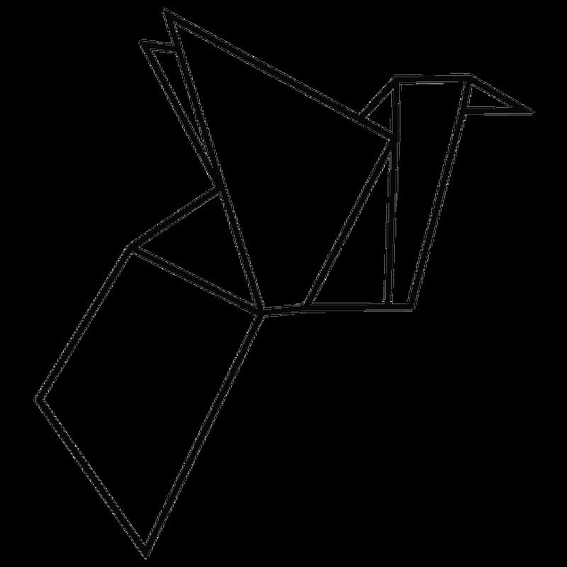 Origami Bird decal