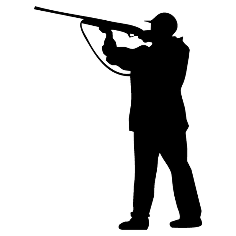 Hunter Silhouette Decal