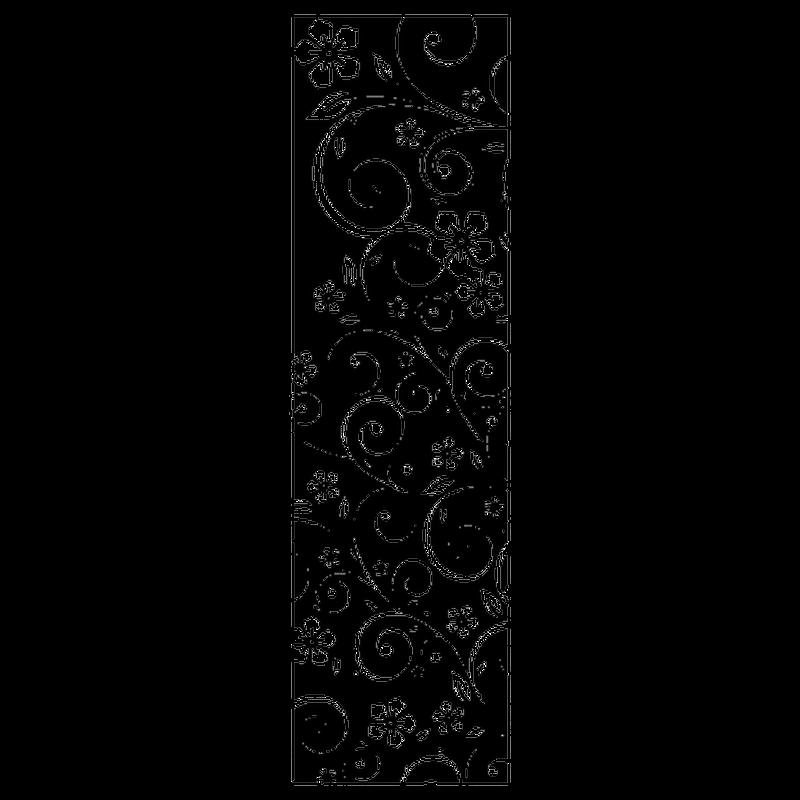 Flowers ornaments shower door decal