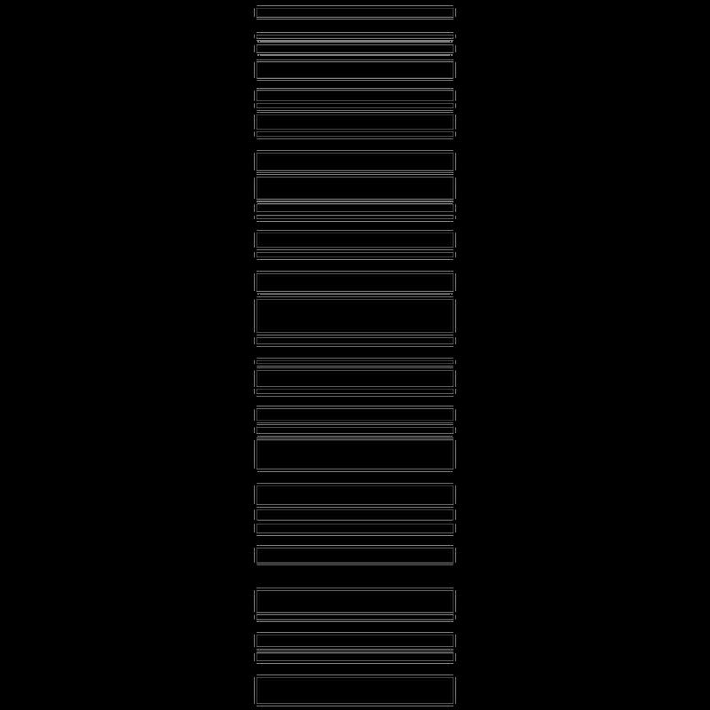 Vertical stripes shower door decal