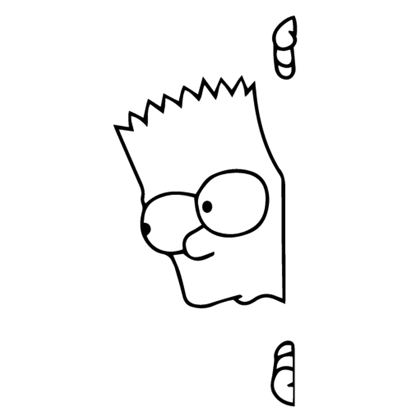Sticker Deco Bart curieux