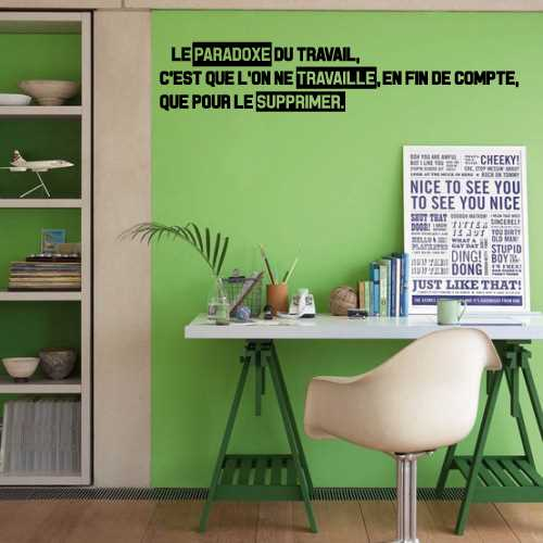 Paradoxe Travail decoration Decal