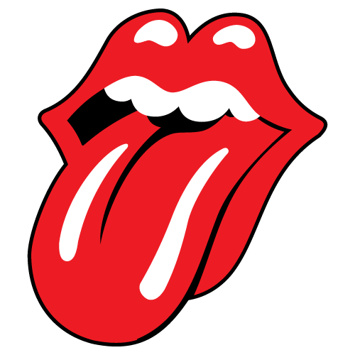 Rolling Stones tongue logo decal