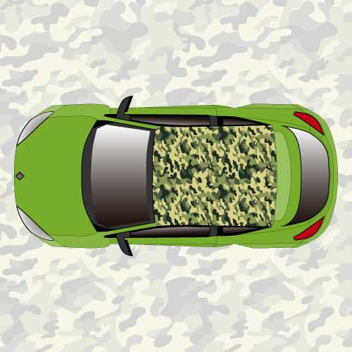 military camouflage car roof sticker. Black Bedroom Furniture Sets. Home Design Ideas