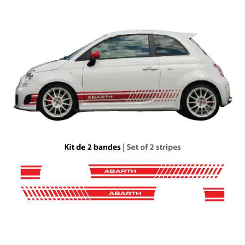 kit stickers bandes fiat 500 abarth esseesse. Black Bedroom Furniture Sets. Home Design Ideas