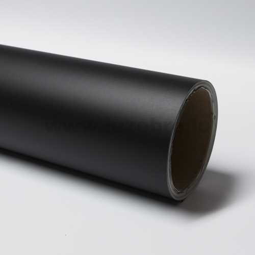 Matte black vinyl film