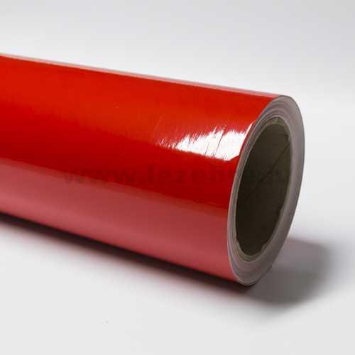 Red vinyl film
