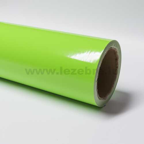 Lime green vinyl film