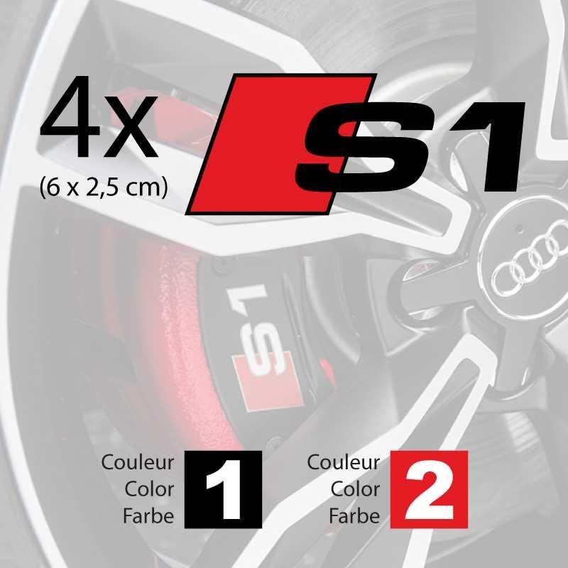 Audi S1 Logo Bremsbacken Aufkleber Set