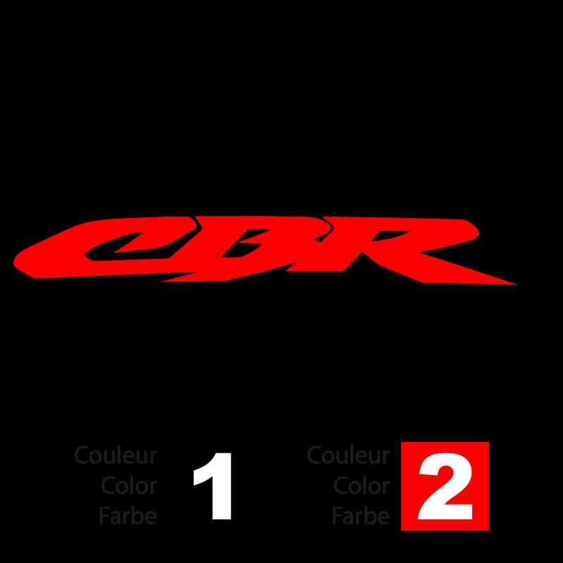 Honda CBR logo bicolor Decal