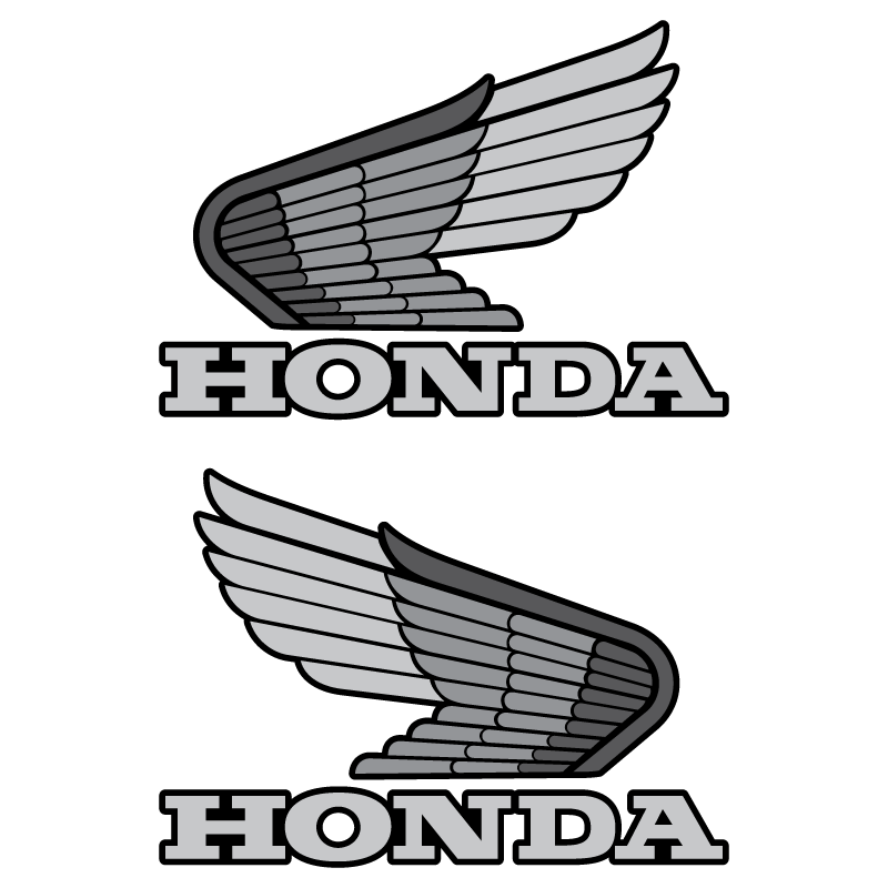 Honda old grey logo tank Decal Set