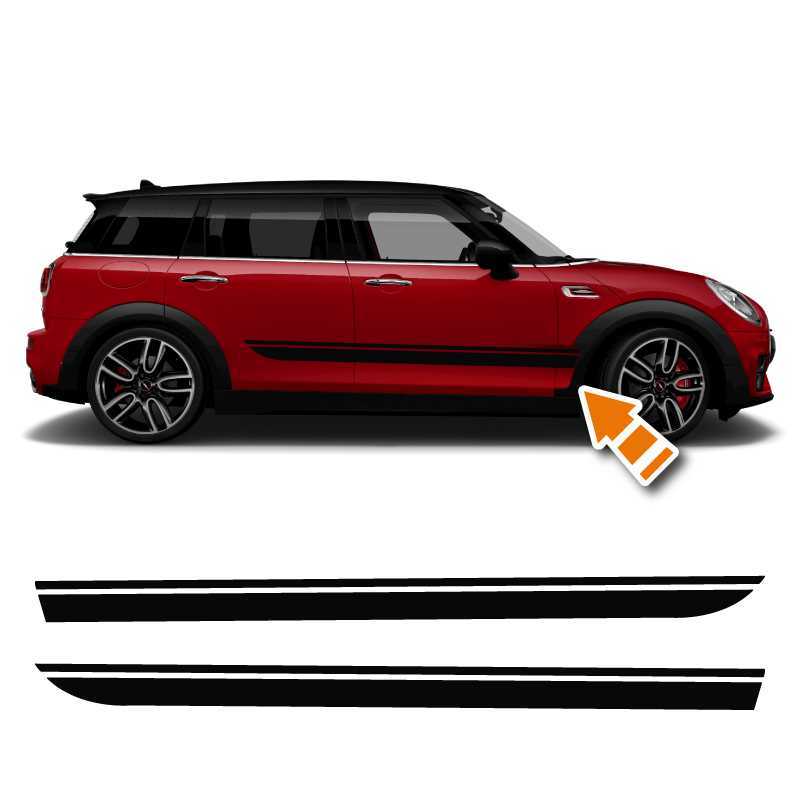 Mini Clubman John Cooper Works Style Decals Set