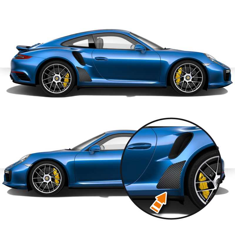 Kit vinyle de protection carbone Porsche 911 Turbo (Turbo S & Turbo Cabriolet)