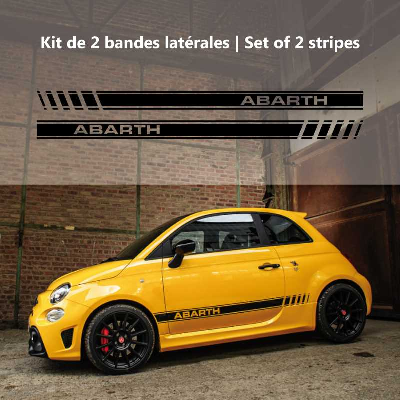 Fiat 500 Abarth 595 (2016-17) stripes decal set