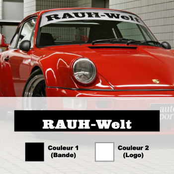 RAUH-Welt Porsche Sunstrip Sticker