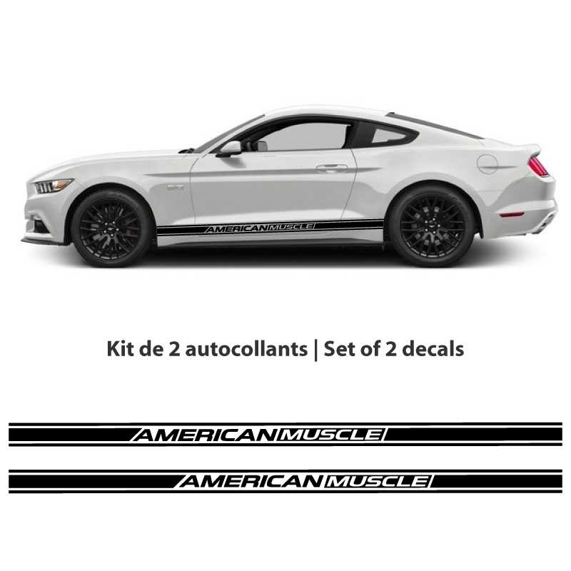 Ford Mustang American Muscle car stripes Decals set (2015-2017)
