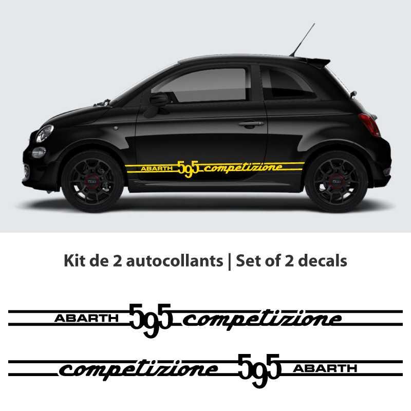 Fiat Abarth 595 Competizione car stripes stickers set