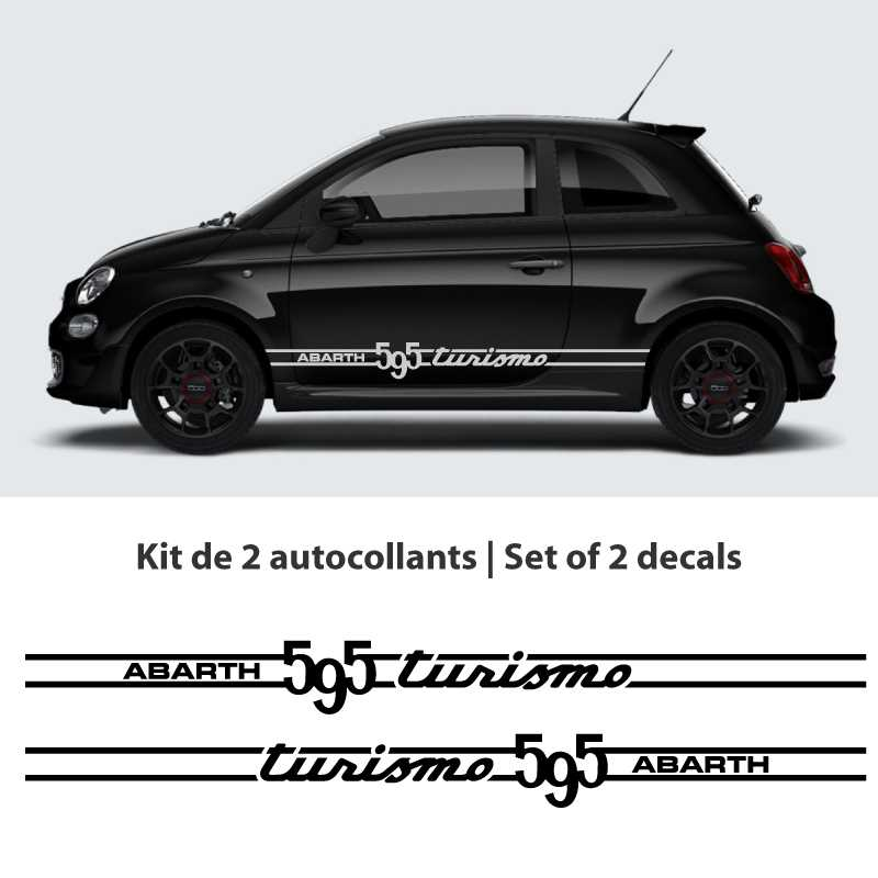 kit stickers bandes fiat abarth 595 turismo. Black Bedroom Furniture Sets. Home Design Ideas