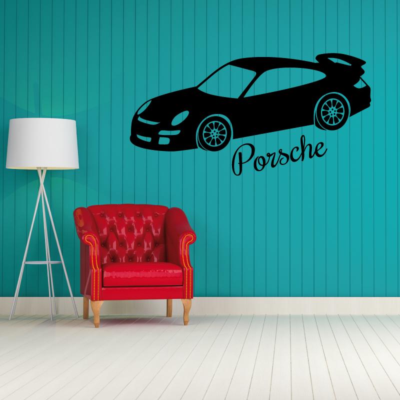 Sticker déco Porsche