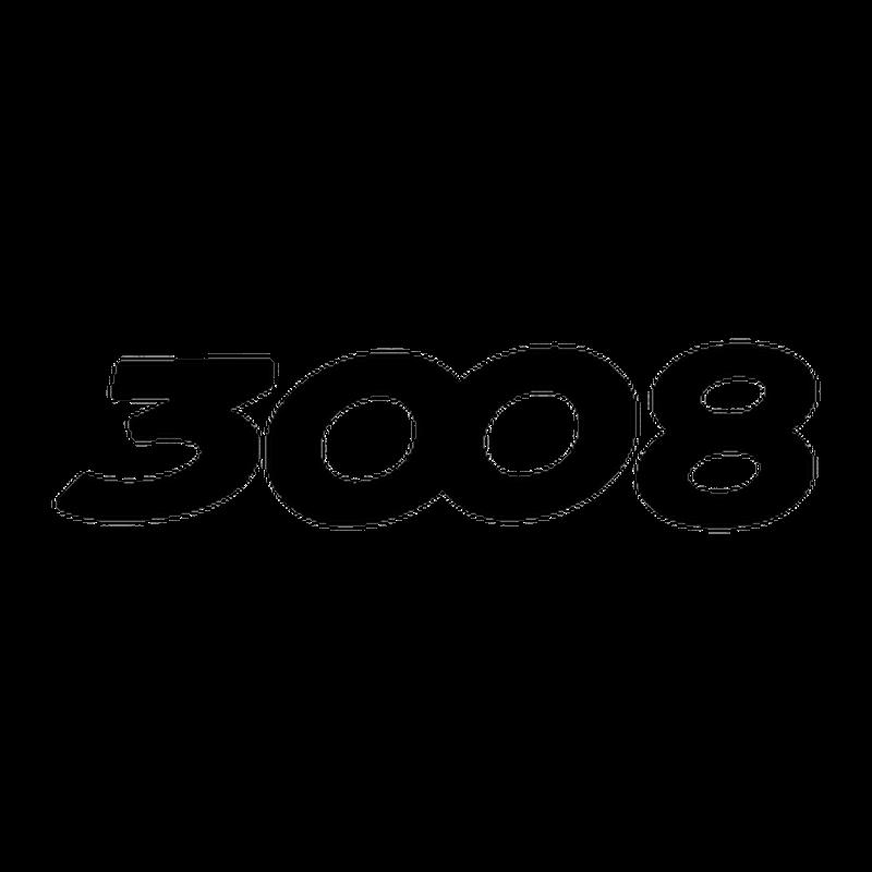 Stencil Peugeot 3008 logo