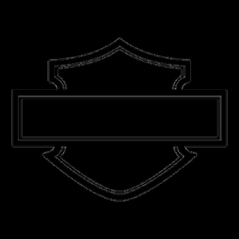 Stencil Harley Davidson Logo Silhouette