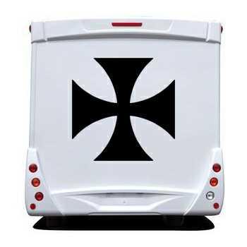 Stencil Camping Car Maltese Cross II