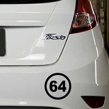 Stencil Ford Fiesta Circle 64 of the French department Pyrénées-Atlantiques