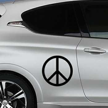 Stencil Peugeot Peace & Love Logo