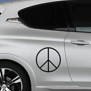 Stencil Peugeot Peace & Love III Logo