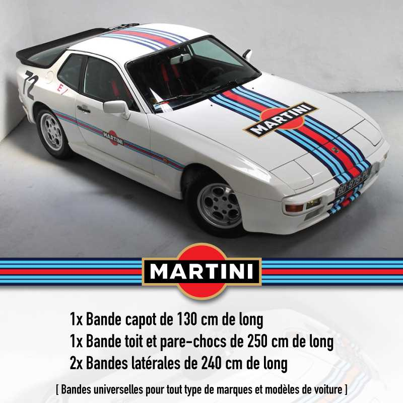 Porsche Martini Decals Set