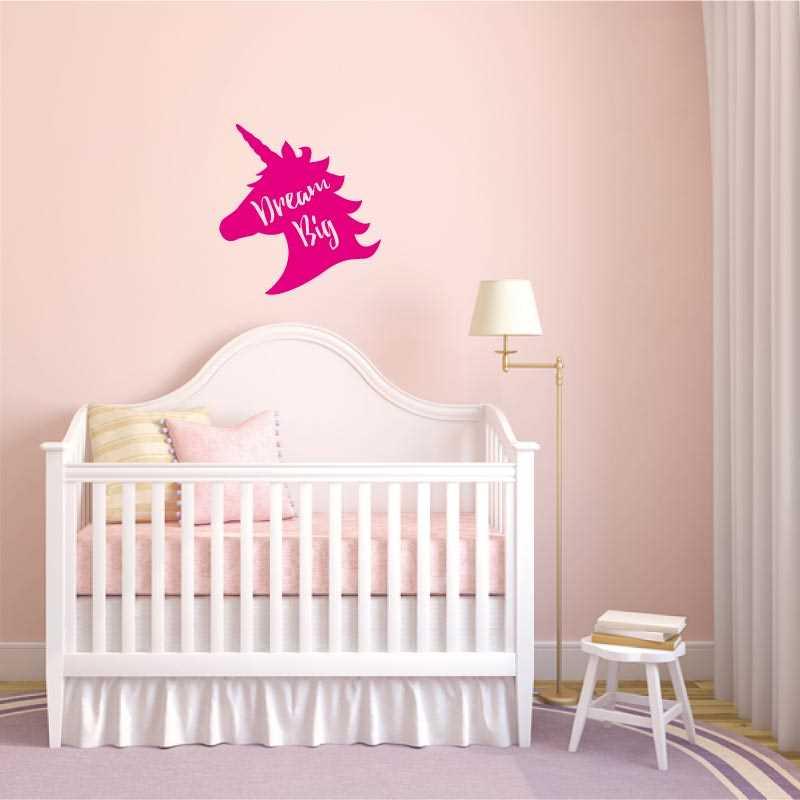 Autocollant unicorne dream big for Chambre unicorn