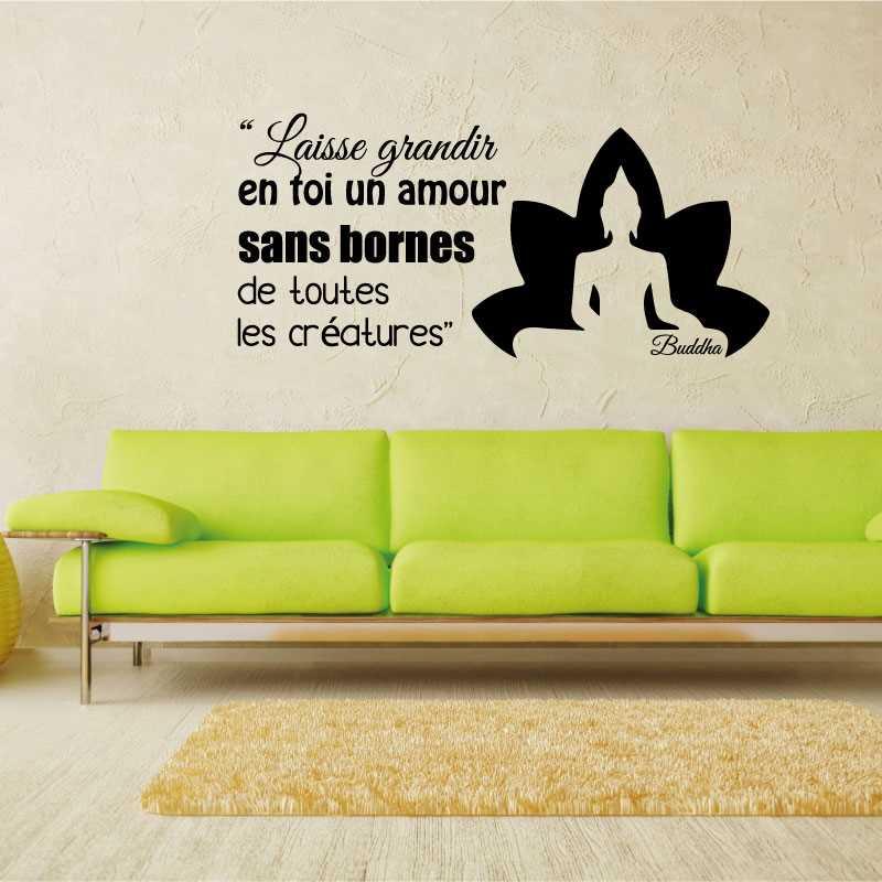 Sticker Bouddha Laisse Grandir En Toi Un Amour Sans Bornes De Toutes Les Créatures