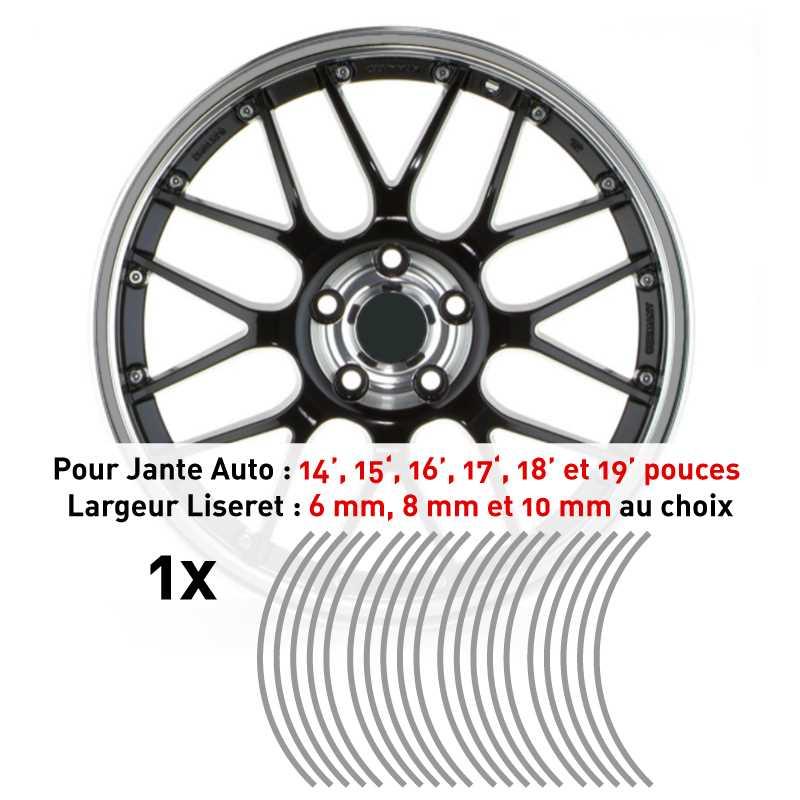 Decal Car Wheel Rim Silver