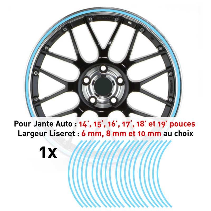 Sticker Liseret Jante Auto Bleu Ciel