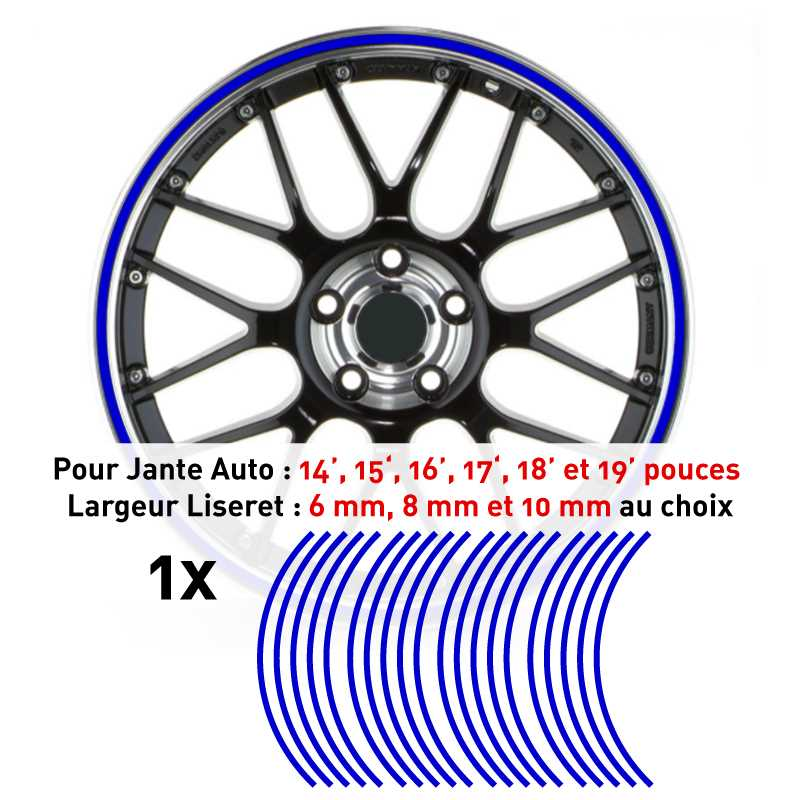 Decal Car Wheel Rim Blue