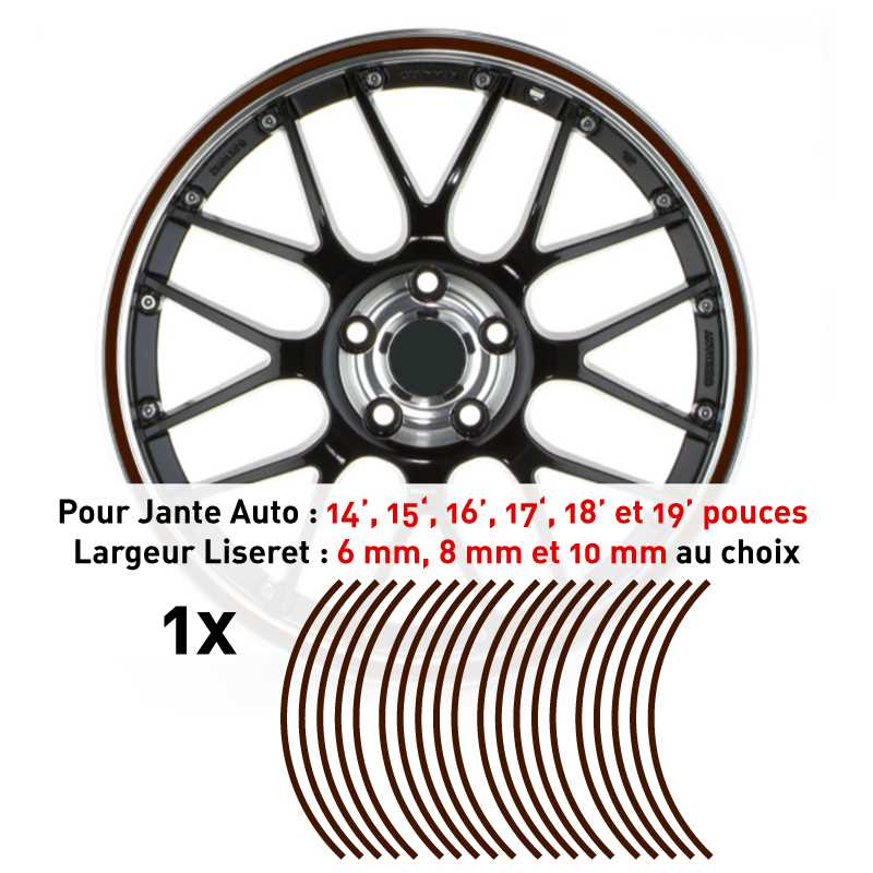 Decal Car Wheel Rim Chocolate brown