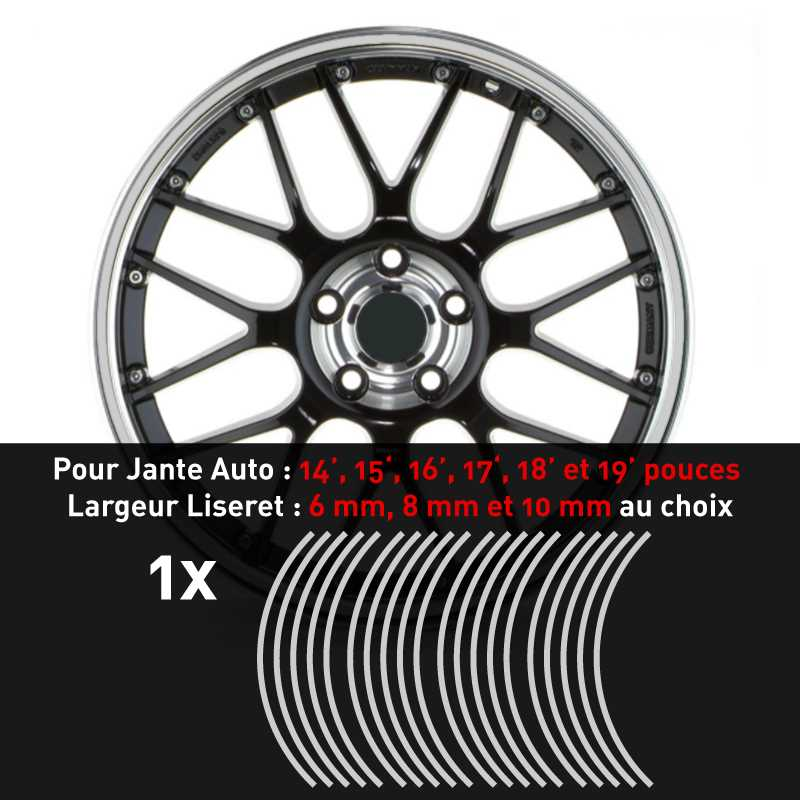 Decal Car Wheel Rim Light grey
