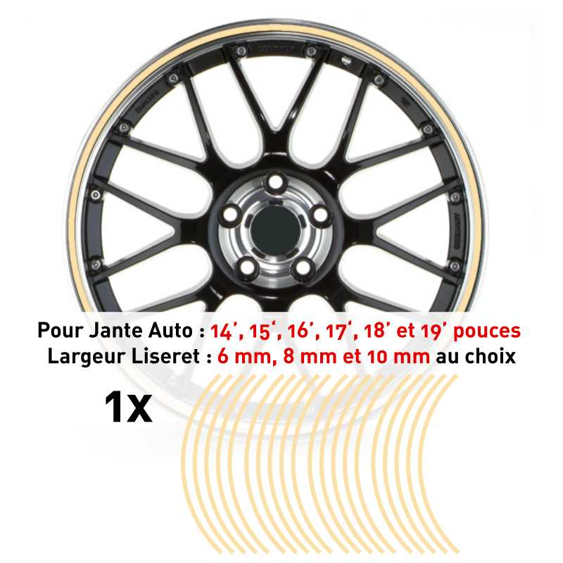 Decal Car Wheel Rim Ivory